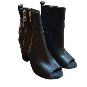 Sixtyseven double buckle booties boots